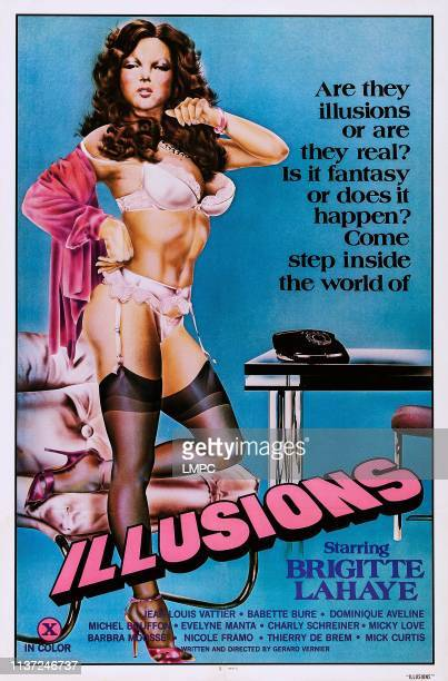Illusions poster Brigitte Lahaie on poster art 1977