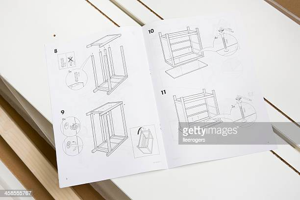 ikea illustrated assembly guide - instructions stock pictures, royalty-free photos & images