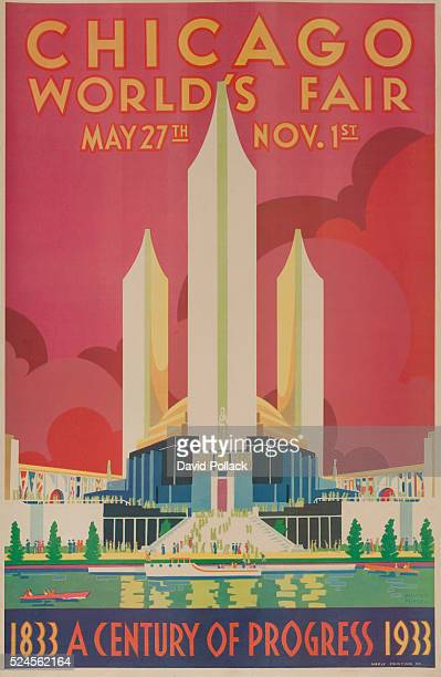 Illustrated by Weimar Pursell art deco stylized Federal Building 1933