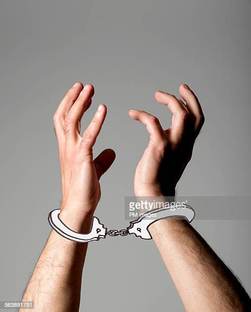 illustrated handcuffs - handcuffs stock pictures, royalty-free photos & images