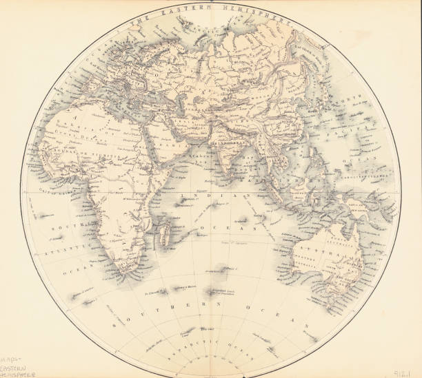 Map Of The Eastern Hemisphere Pictures | Getty Images