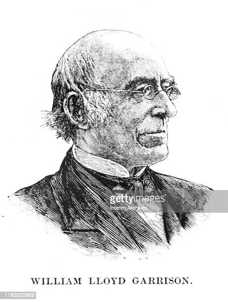 Illustrated portrait of American abolitionist William Lloyd Garrison circa 1870 It appeared in Charles Carleton Coffin's book 'Abraham Lincoln'...