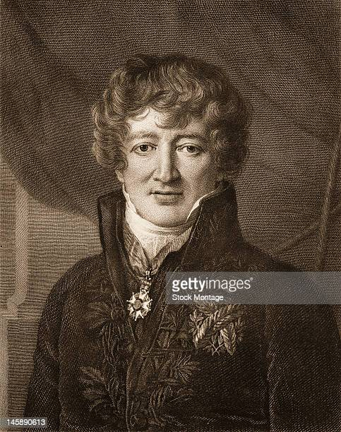 Illustrated portrait of French naturalist Georges Cuvier late 18th or early 19th century