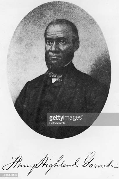 Illustrated portrait of Henry Highland Garnett circa 1860s