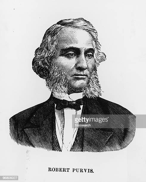 Illustrated portrait of Robert Purvis circa 1860s