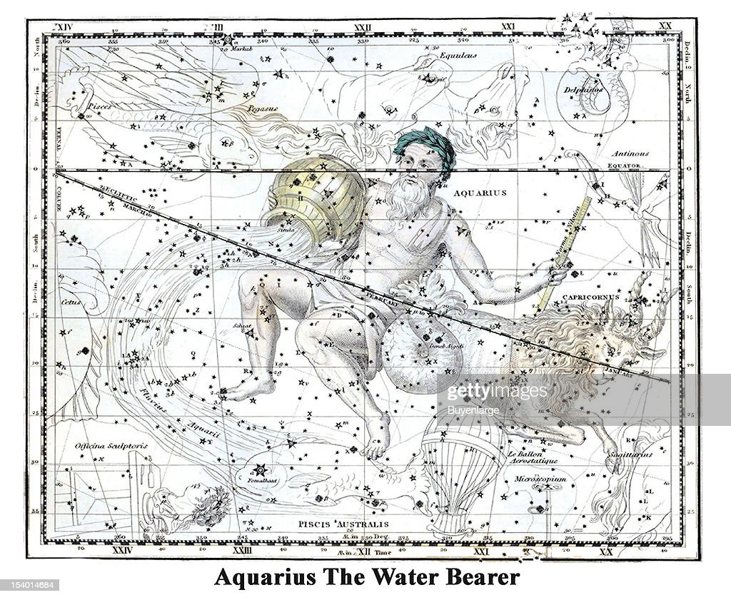 Aquarius the water bearer pictures getty images illustrated starchart by alexander jamieson shows aquarius the water bearer 1822 aquarius biocorpaavc Choice Image