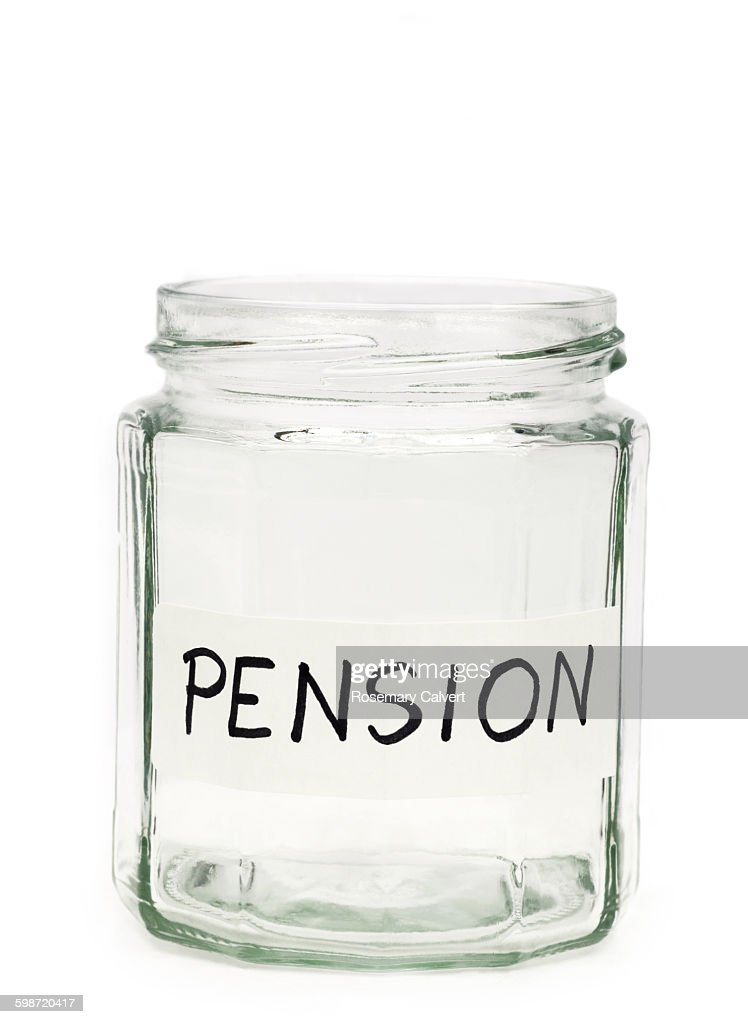 Illustrating no savings for pension. : Stock Photo