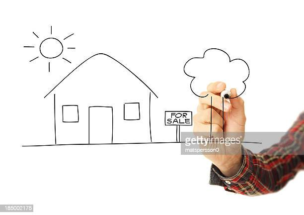Illustrating the concept of selling a house