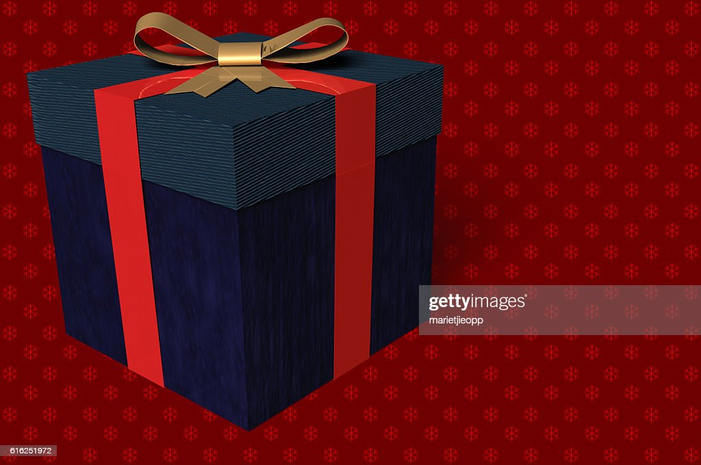 3D Illustration: A gift box with a bow : Stock Photo