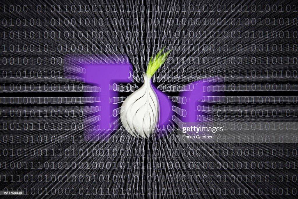 Illustration about 'Darknet', logo of the Tor Browser, which provides access to the Darknet. Binary codes are shown in the background on January 13, 2017 in Berlin, Germany.