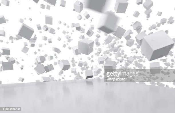 3d illustration abstract background - cuadrado forma bidimensional fotografías e imágenes de stock