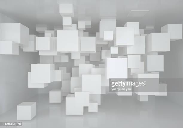 3d illustration abstract background - square stock pictures, royalty-free photos & images