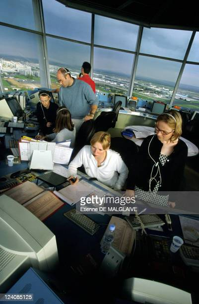Illustration Air control In Paris France In June 1999 CharlesdeGaulle Airport North Control Tower