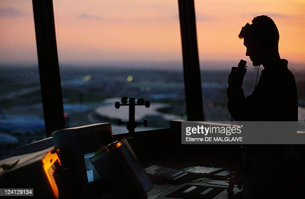 Illustration Air control In Paris France In June 1999 CharlesdeGaulle Airport South Control Tower