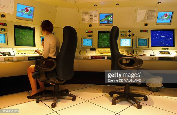 Illustration Air control In Paris France In June 1999 Control Room at ParisOrly Airport