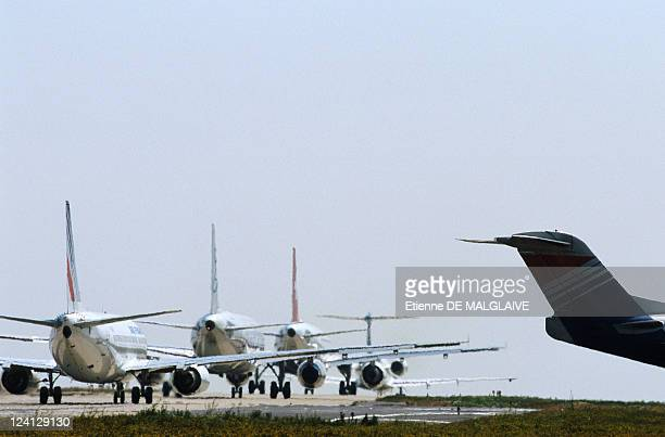 Illustration Air control In Paris France In June 1999 Planes Waiting for Take Off