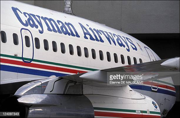Illustration Airline companies at Miami airport In Miami United States In 2001 Cayman airways B737