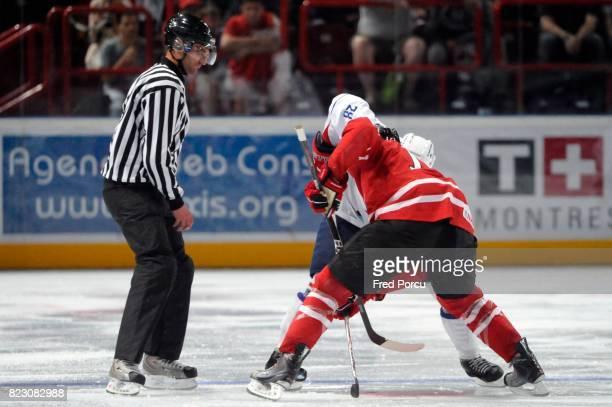Illustration Arbitre Hockey sur Glace France / Canada Match amical Palais Omnisport Paris Bercy