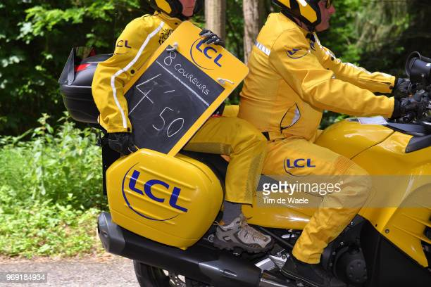 Illustration / Ardoisier Time Keeper Motor Bike / during the 70th Criterium du Dauphine 2018 Stage 4 a 181km stage from ChazeysurAin to LansenVercors...