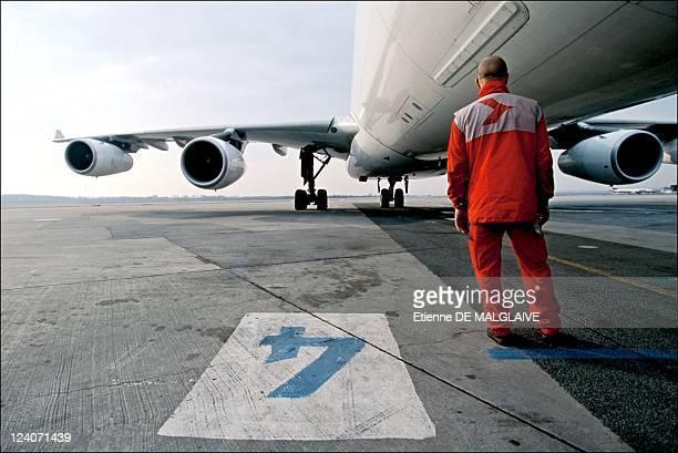 Illustration Austrian airlines In Vienna Austria In 2002 Austrian Airline Airbus A340 Schwechat airport