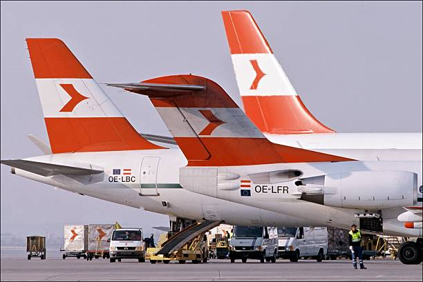 illustration austrian airlines in vienna austria in 2002 pictures