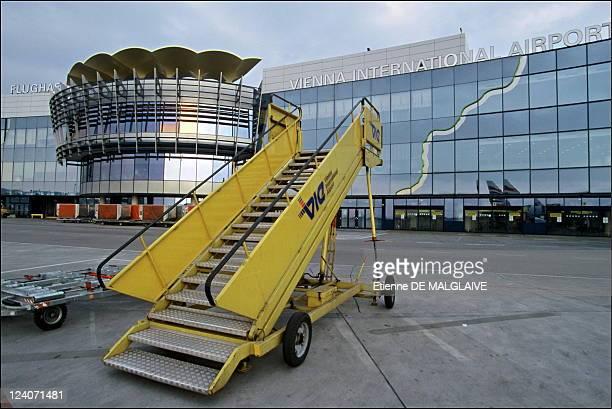 Illustration Austrian airlines In Vienna Austria In 2002 Schwechat airport