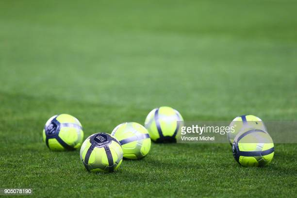 Illustration Ball during the Ligue 1 match between FC Nantes and Paris Saint Germain at Stade de la Beaujoire on January 14 2018 in Nantes France