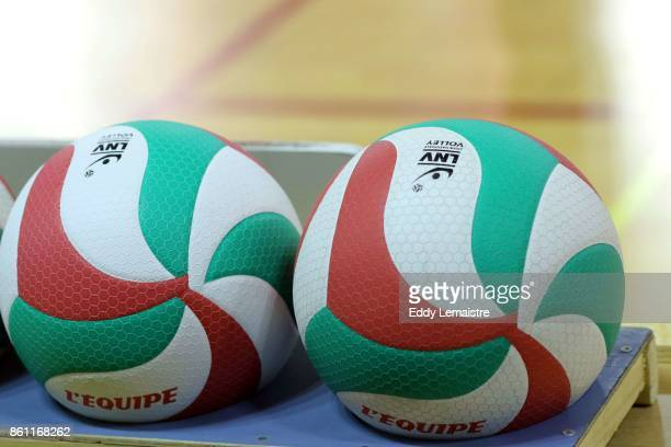 Illustration Balls during the Ligue A match between Nantes Reze and Chaumont on October 13 2017 in Nantes France