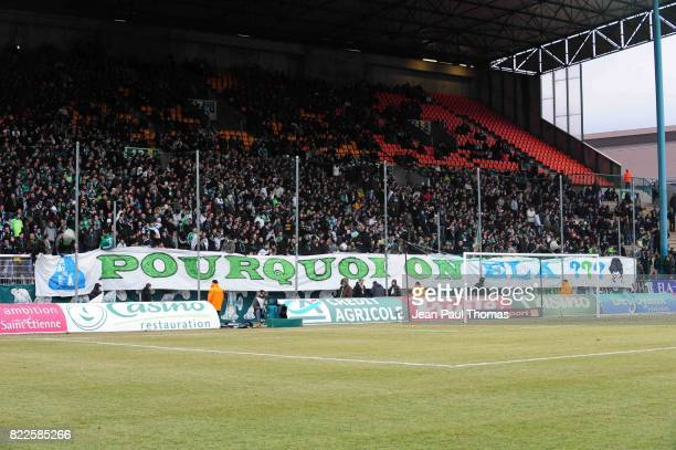 Illustration banderole/ supporters Saint Etienne Saint Etienne / Monaco 23eme journee de Ligue 1
