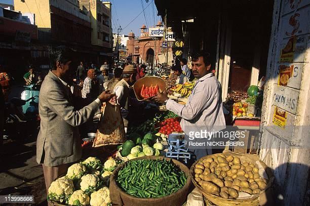 Illustration: Bikaner City, in Rajasthan In Bikaner, India In November, 1998.