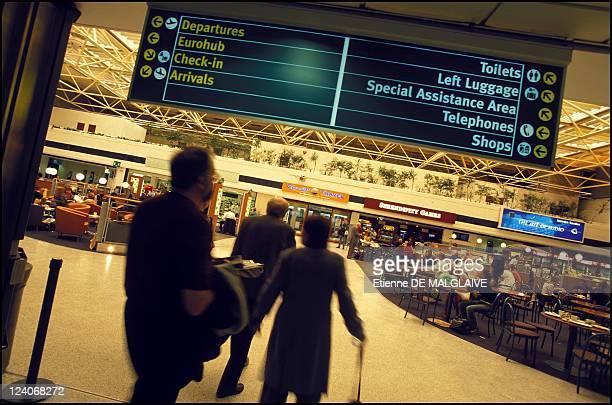 Illustration Birmingham airport In Birmingham United Kingdom In August 2001 Air Terminal