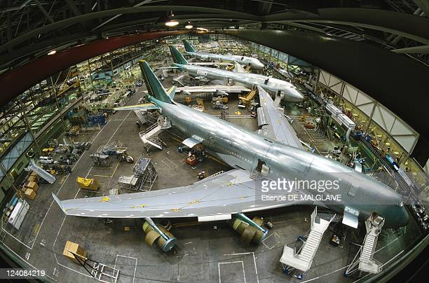 Illustration Boeing In Seattle United States In April 1998 Seattle Everett B747400 Assembly Line