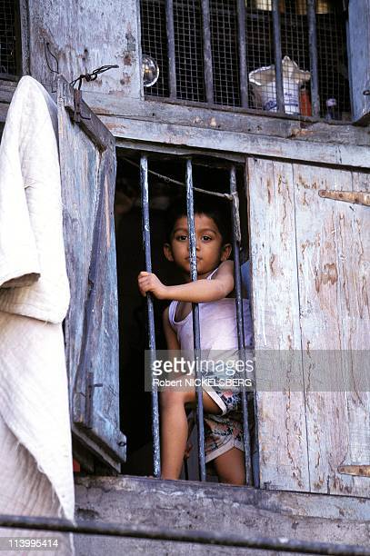 Illustration: Bombay In Bombay, India On July 02, 1995-Child and poverty.