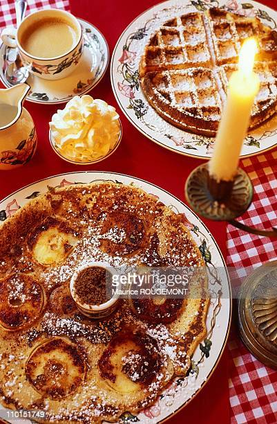 Illustration Bruges the Capital of Culture 2002 in Belgium in 2001 In photo Pancakes