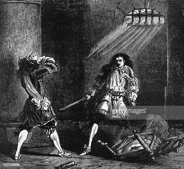 Illustration by J Desandre and A de Neuville 'The Vicomte de Bragelonne' 19th century Alexandre Dumas Private collection