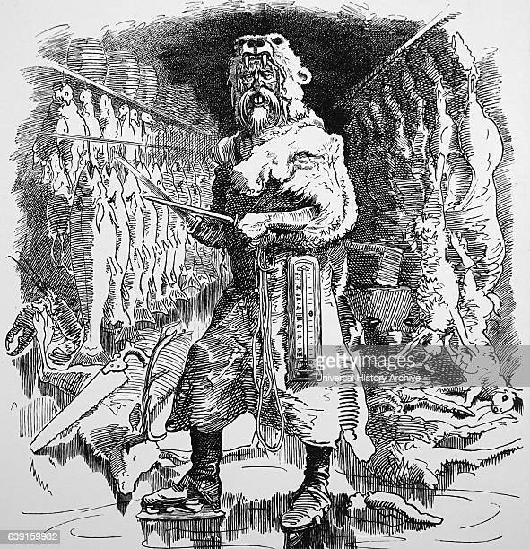Illustration by John Tenniel titled 'Mr Punch's view of the future importance of refrigeration' John Tenniel an English illustrator graphic humourist...