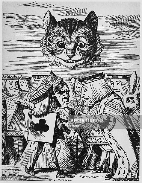 Illustration by Sir John Tenniel Alice in Wonderland by Lewis Carroll London MacMilllan 1865 Executioner argues with King about cutting off Cheshire...