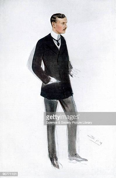 Illustration by 'Spy' depiciting Charles Stewart Rolls . Rolls set up a business selling French and Belgian cars, before going into partnership with...