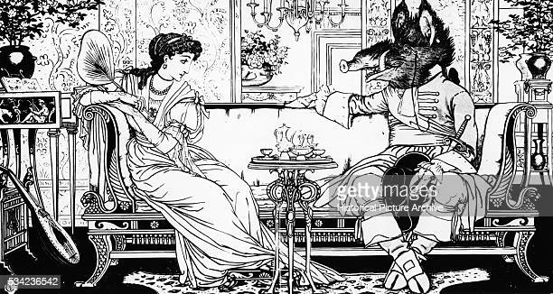 Illustration by Walter Crane from the 1874 Edition of Beauty and the Beast