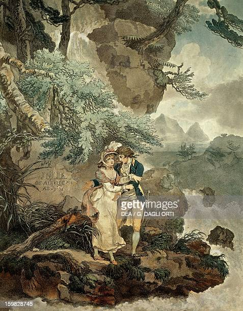 Illustration by Wheatley for the Nouvelle Heloise epistolary novel by JeanJacques Rousseau Swiss writer philosopher and musician Paris Bibliothèque...