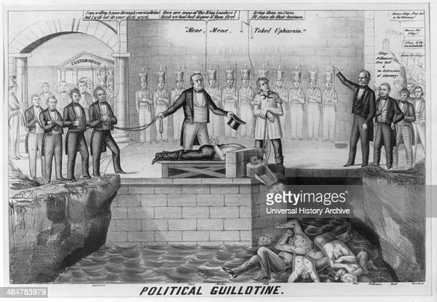 Illustration called Political Guillotine 1850