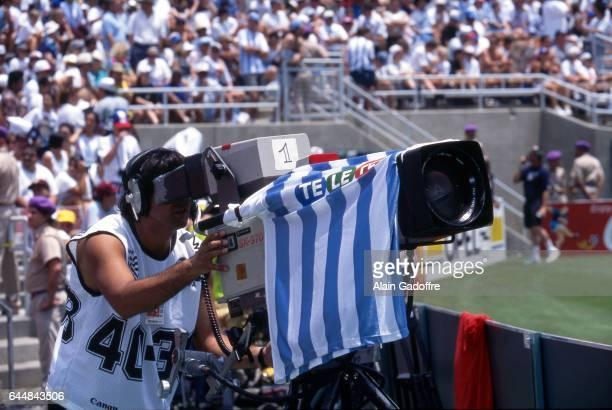 Illustration Camera Argentine Argentine / Roumanie 1/8emeFinale Coupe du Monde 1994 Photo Alain Gadoffre / Icon Sport