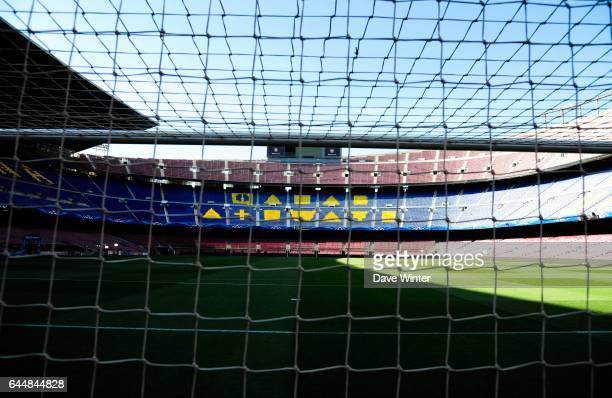 Illustration Camp Nou Pub de Qatar Airways cache Barcelone / Paris Saint Germain 1/4Finale Retour Champions League Photo Dave Winter / Icon Sport