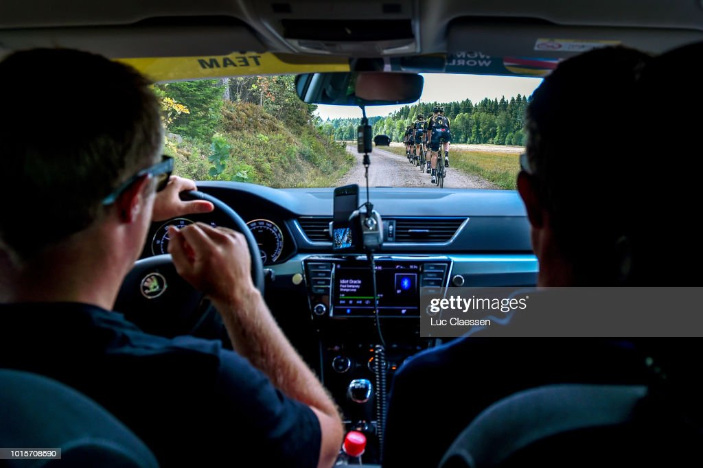 Illustration / Car / during the Training of Team Mitchelton-Scott for the  13rd Open