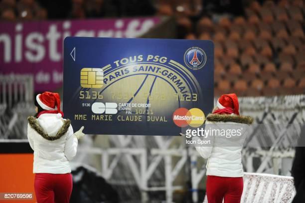 Illustration Carte Bleue Visa PSG Paris Saint Germain / Monaco 18e journee Ligue 1