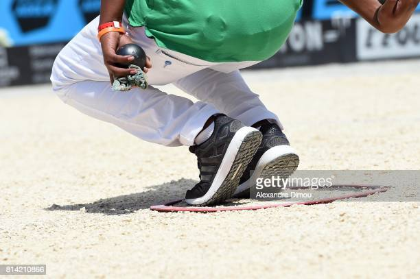 Illustration competes during the Masters of Petanque 2017 on July 13 2017 in RomanssurIsere France