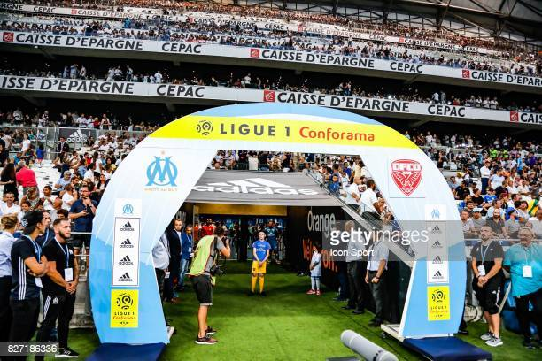 Illustration Conforama Ligue 1during the Ligue 1 match between Olympique Marseille vs Dijon FCO at Stade Velodrome on August 6, 2017 in Marseille,...