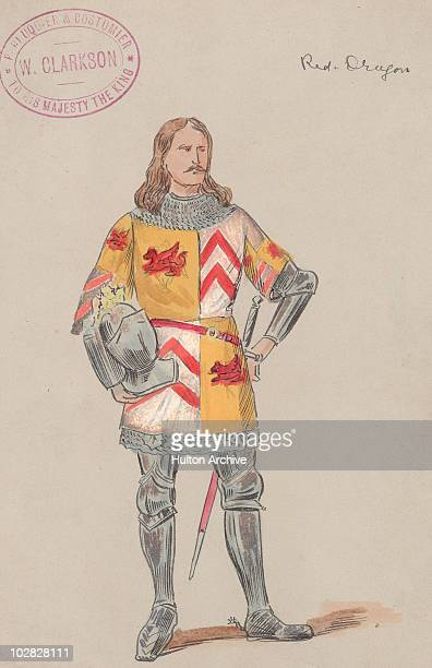 Illustration depicting a fulllength image of King Henry VII of England in suit of armour circa 1500 Henry VII displayed the red dragon of Cadwaladr...