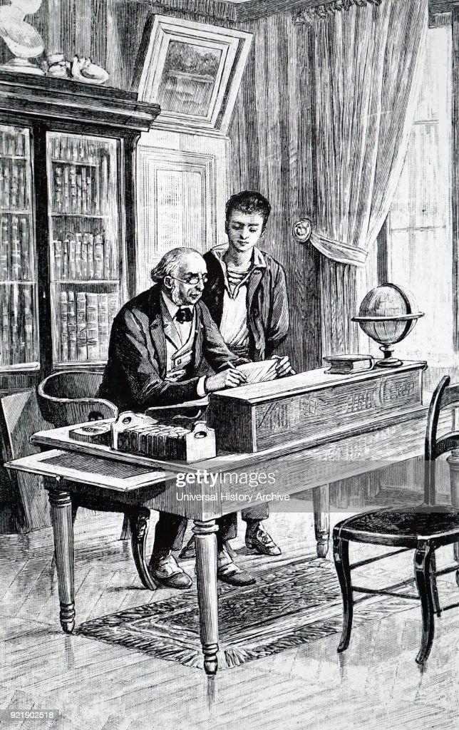 A gentleman at his desk. : News Photo