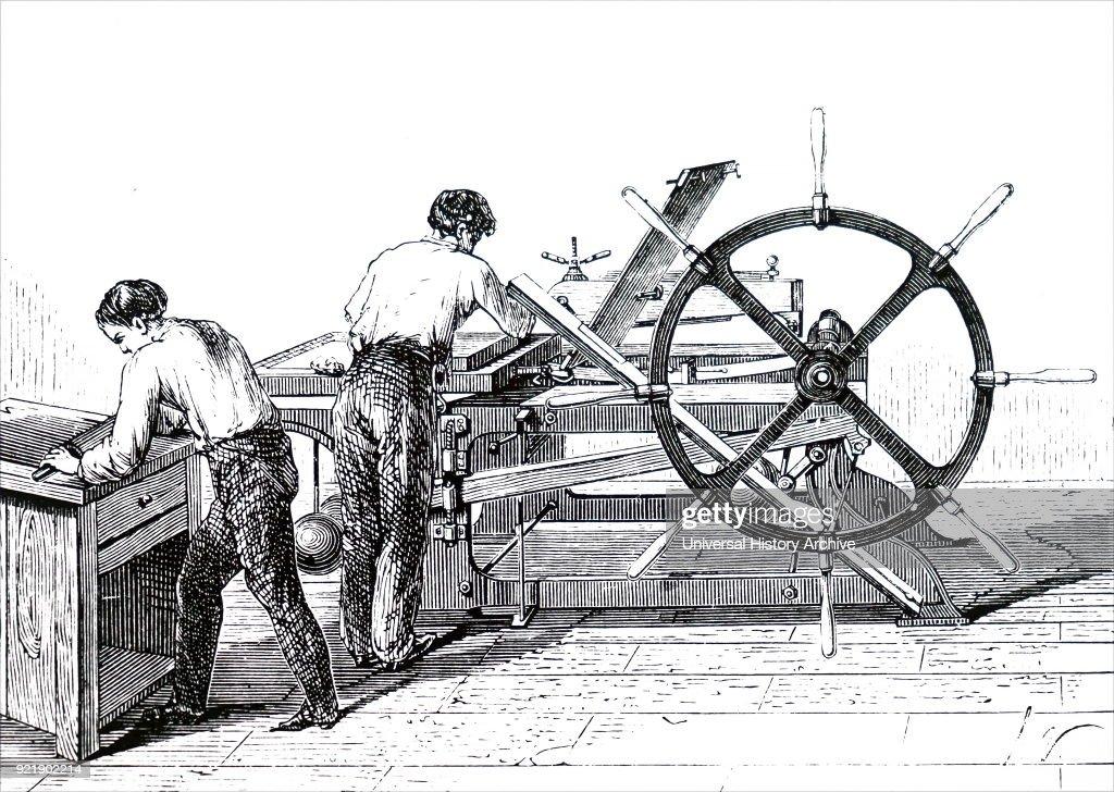 A lithographic press. : News Photo